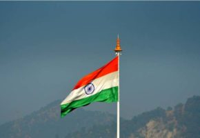 India, National, Flag, Hoist