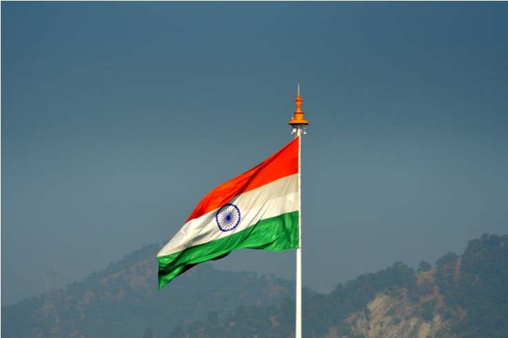 India, National, Flag, Hoist